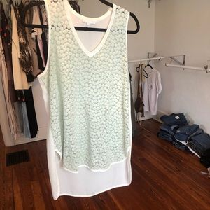 Tops - Mint Sheer Tank